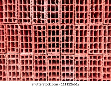 Red building bricks for cladding background image