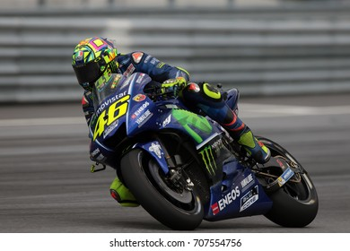 RED BULL RING - AUSTRIA, AUGUST 11: Italian Yamaha rider Valentino Rossi at 2017 Nero Giardini MotoGP of Austria at Red Bull circuit on August 11, 2017