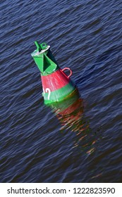 Red buoy in the water