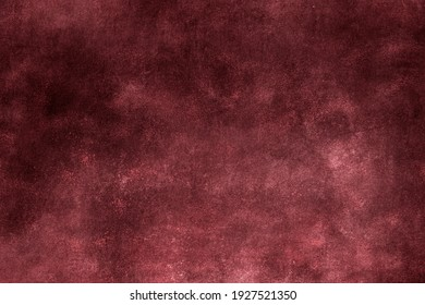 Red burgundy wall grunge background or texture