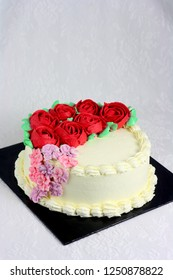 Red buttercream rose decocrations flower