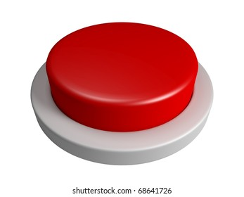 Red button with no text isolated on white background