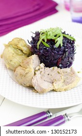 Red Cabbage And Pork Pump Cutlet