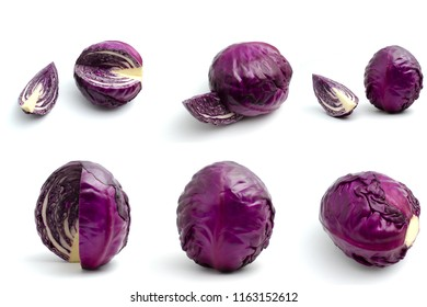 Red cabbage, purple cabbage, Collection Set.