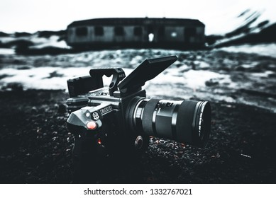 RED Camera on Deception Island - Making of Equipment foto of nature documentary - Deception Island, Antarctica - 16.12.2018