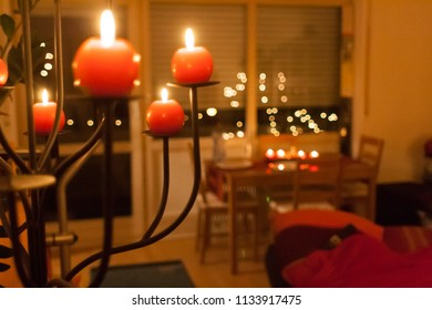 Red candles are usually associated with Christmas
