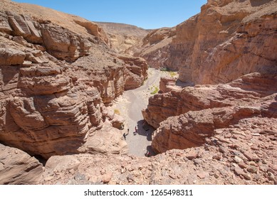 Red Canyon in the Eilat Mountains. It is one of Israel's most beautiful yet accessible hiking trails. Twenty minutes north of Eilat, the Red Canyon offers an undisturbed hik