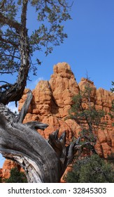 Red canyon rock formation near Bryce canyon in Utah