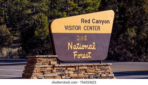 Red Canyon visitior center in Utah - RED CANYON / UTAH - OCTOBER 24, 2017