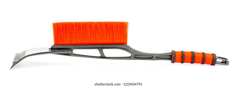 Red car brush on white background