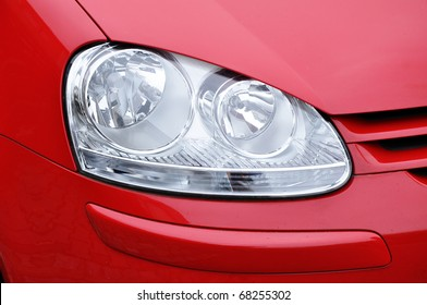 Red car headlamp, industry and business