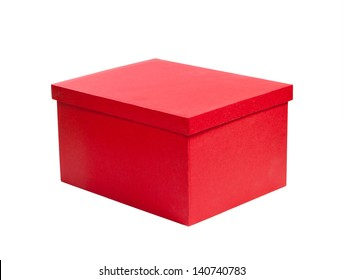 red cardboard gift box. packaging for shopping and gifts