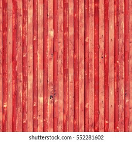 Red cargo ship container texture. Seamless pattern. Flaking paint texture of the old container. Repeating grunge background