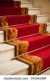 red carper in palace hotel