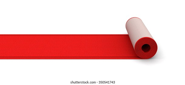 Red Carpet (clipping path included)
