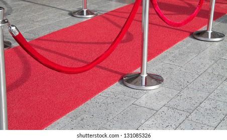 Red carpet entrance sideways