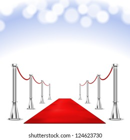 Red Carpet isolated on white background. Raster version