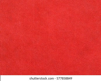 red carpet texture background, doormat before entering the building, close up top view