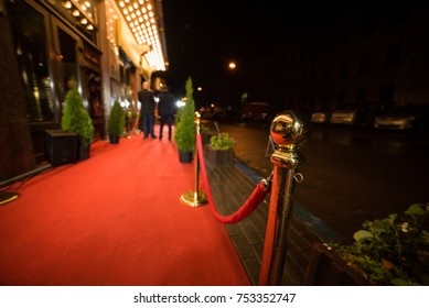 Red Carpet -  is traditionally used to mark the route taken by heads of state on ceremonial and formal occasions