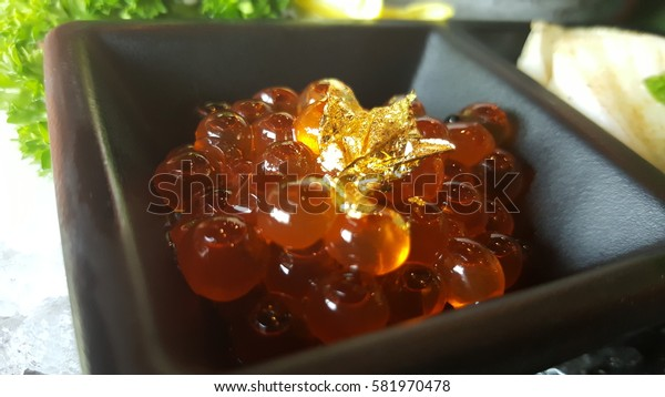 Red Caviar, salmon roe