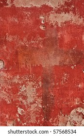 Red cement wall texture