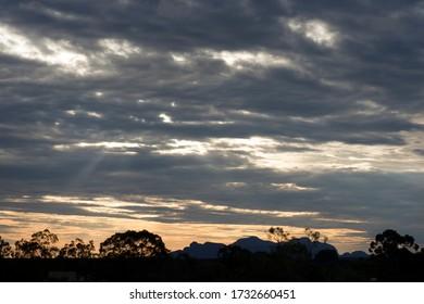 Red Centre clouds landscape Australia