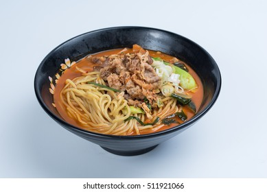 Red Chadol Jjampong, Red Spicy Beef Noodle Soup with vegetable 1