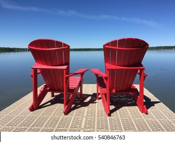 Red Chairs - Lake house
