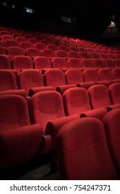 red chairs in theater