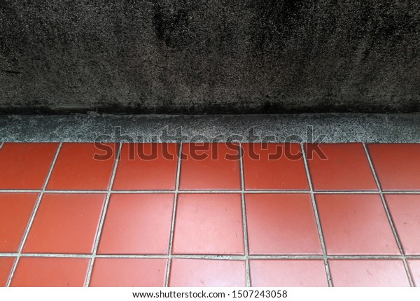 Red Checkered Floor Tiles Terrazzo Fence Nature