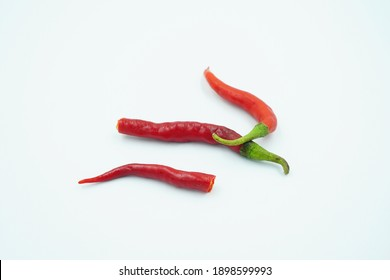 Red chili pepper isolated on white background