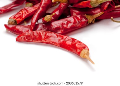 The Red Chili Pepper isolated on white background