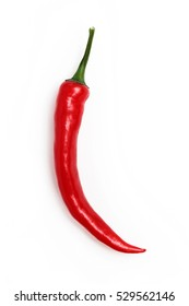 Red chili pepper isolated on a white background