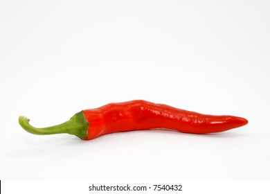 red chilli isolated on white