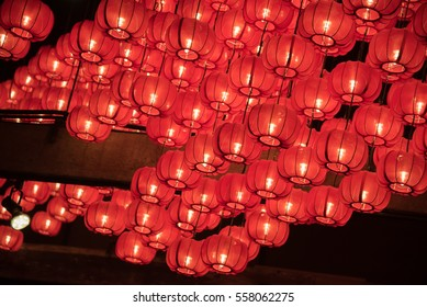 Red chinese lantern, abstract background for Chinese New Year day, Spring Festival