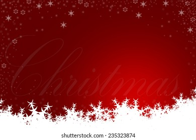 Red Christmas Background featuring Snowflakes