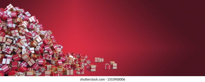 Red Christmas Background for Greeting Cards - Space for your text
