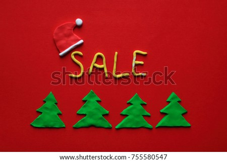 Red Christmas Background Plasticine Hand Made Stock Photo Edit Now