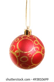 red Christmas ball. isolated on white background