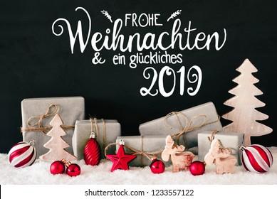 Frohe Weihnachten Und Happy New Year.Seasons Greetings Happy New Year Frohe Weihnachten Stock Photos