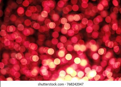 Red Christmas Light Bokeh Backgrund