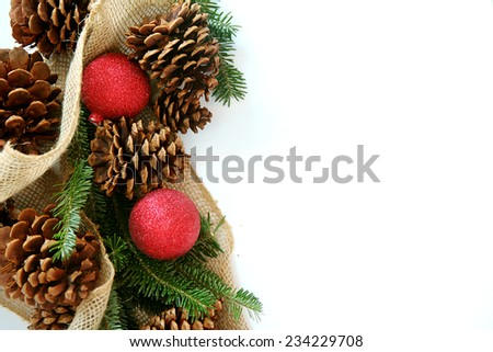 Red Christmas Tree Ornaments Natural Pine Stock Photo (Edit Now ...
