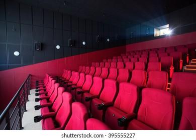 Red cinema empty hall