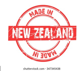 "red circle grunge stamp ""made in new zealand"""