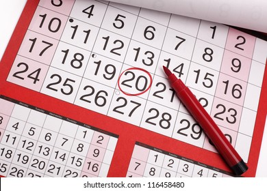 Image result for calendar  with 5 circled