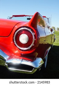 red classic car tail lamp