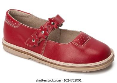 Red classic children sandal