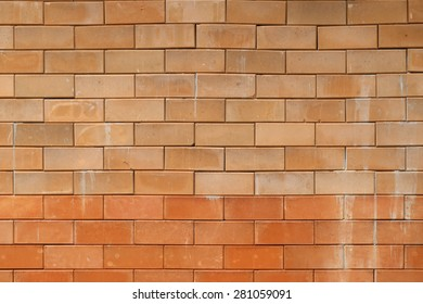 Red clay brick wall background.