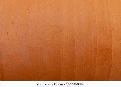 Red clay pot background or texture.