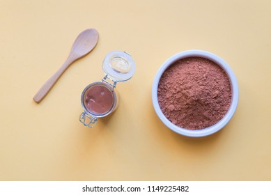 Red clay yellow background